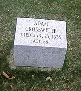 adam_crosswhite_grave_marker_marshall_michigan