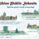 This drawing was created in 2003 and reflects Albion Public Schools at that time. It is shown here for historic purposes.